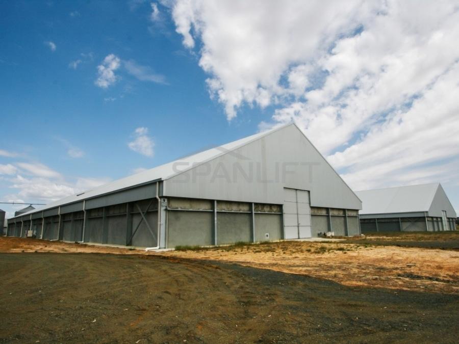 Bulk Storage Grain Shed 3 Spanlift DyWOS4