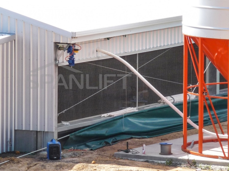 Curtain Sided Free Range Broiler Shed 3 Spanlift vfuRf4