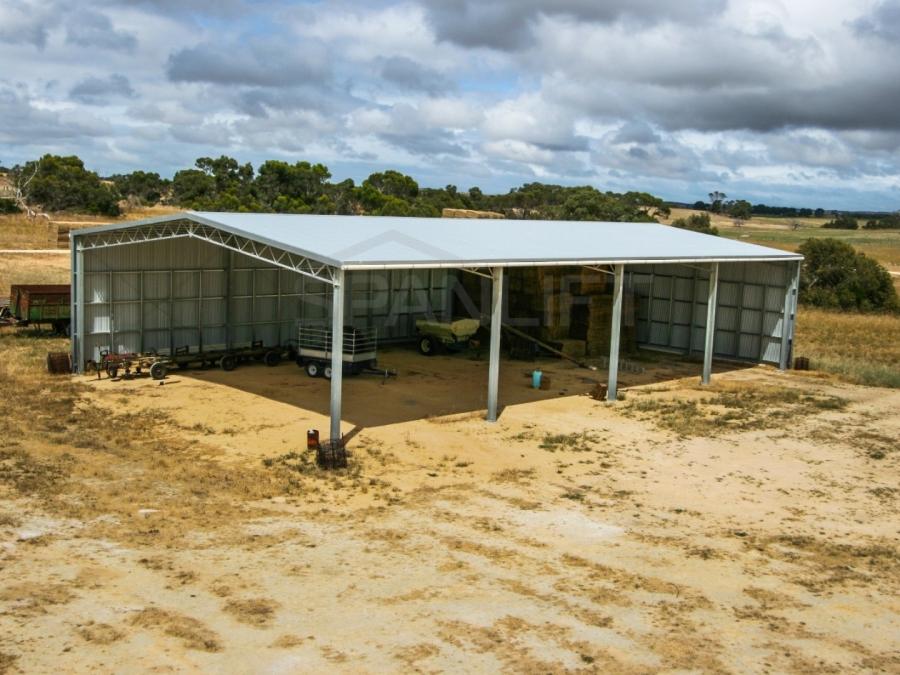 Hay Shed 25 Spanlift 54L7ME - Bulk Storage Sheds