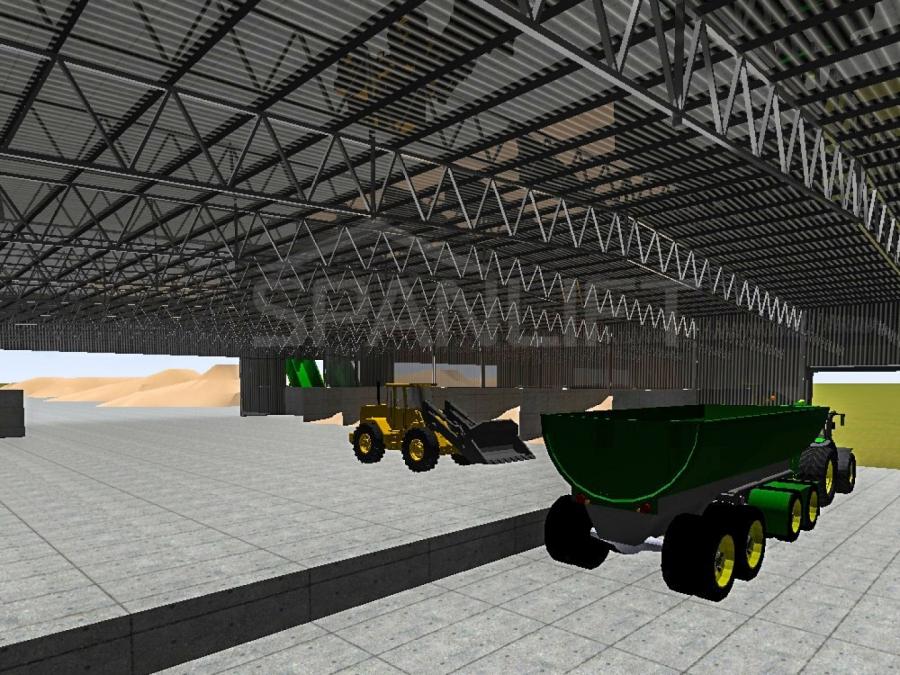Mixing Shed Bulk Storage 23 Spanlift HcB58X