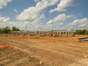 Spanlift Stadium taking shape at the Satellite City BMX Club in Darwin