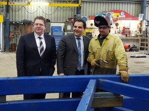 The Hon Scott Ryan and Hon Tony Pasin visit Spanlift