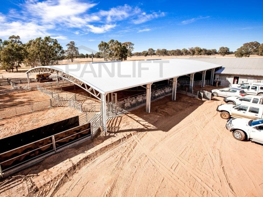 Sheep Yard Cover 21 Spanlift LRu1W6 - Yard Covers
