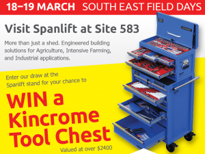 WIN a Kincrome Tool Chest at the South East Field Days